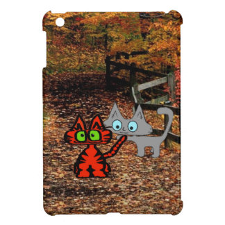 Cats Enjoying A Fall Day Case For The iPad Mini