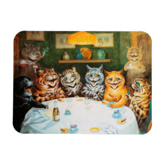 Cats Enjoying Cigars & Brandy, Louis Wain Magnet