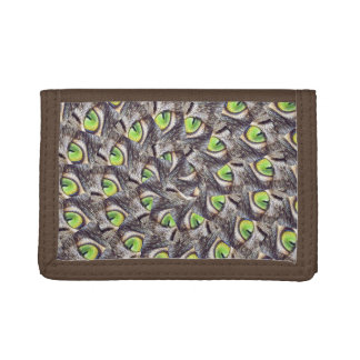 Cats Eye Abstract Art, Trifold Wallets