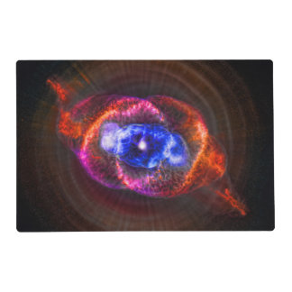 Cats Eye and Helix Nebulae space pictures Laminated Placemat