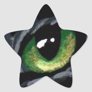 """Cat's Eye:  Green"" Sticker"