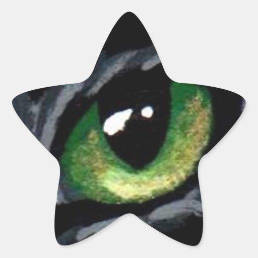 """Cat's Eye:  Green"" Sticker"