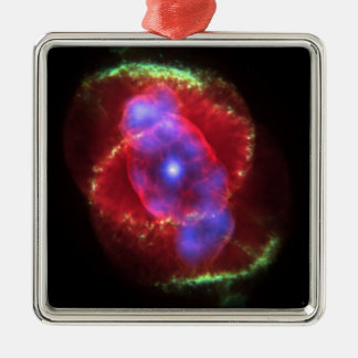 Cat's Eye Nebula glowing Christmas Ornament