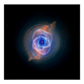 Cat's Eye Nebula glowing Poster
