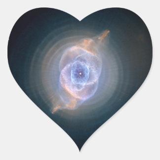 Cat's Eye Nebula Hubble NASA Heart Sticker