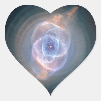 Cat's Eye Nebula, NGC 6543 Heart Sticker