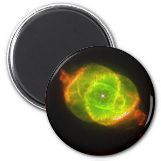 CAT'S EYE NEBULA (outer space design) ~ 6 Cm Round Magnet