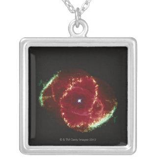 Cats Eye Nebula Silver Plated Necklace
