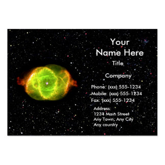 CAT'S EYE NEBULA (space design) ~ Pack Of Chubby Business Cards