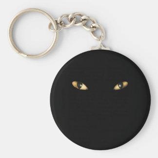 Cats Eyes Basic Round Button Key Ring