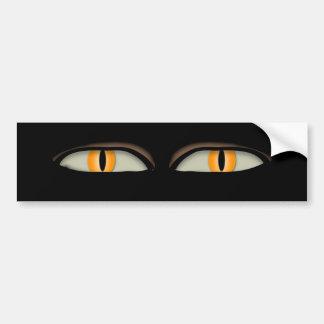 Cats Eyes Design Bumper Sticker