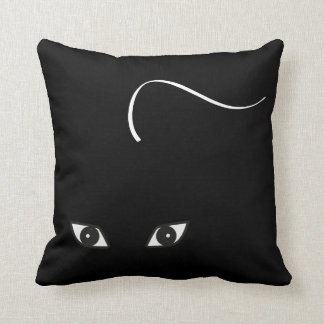 Cats Eyes White and Black Cat Cushion