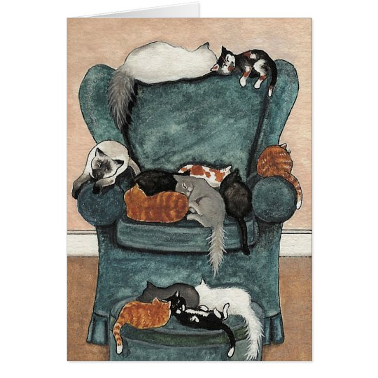 Cats Favourite Chair Card by BiHrle