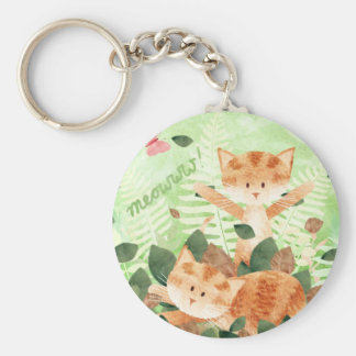 Cats foliage frolics key ring