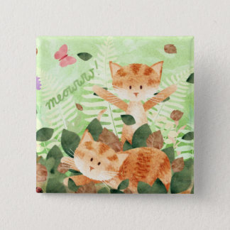 Cats foliage frolics - pin badge