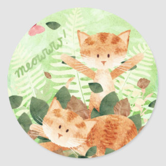 Cats foliage frolics - stickers