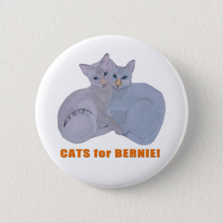 Cats for Bernie! 6 Cm Round Badge