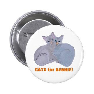 Cats for Bernie! 6 Cm Round Badge
