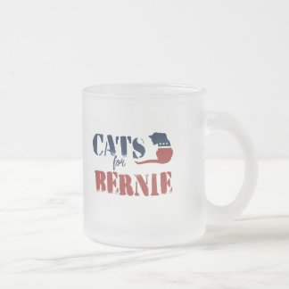 Cats for Bernie Frosted Glass Coffee Mug