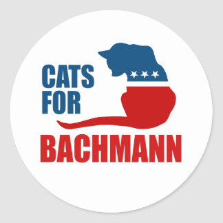 CATS FOR MICHELE BACHMANN13 ROUND STICKERS