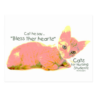 Cats for Nursing Students - Cat he Say Post Card