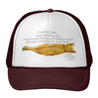 Cats for Nursing Students - Extreme Fatigue Mesh Hats