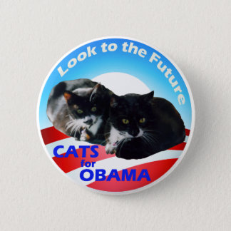 Cats For Obama 6 Cm Round Badge