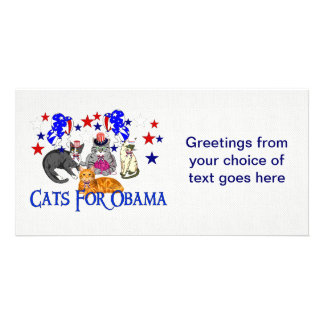 CATS FOR OBAMA PHOTO CARD TEMPLATE