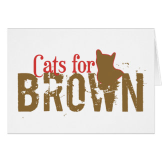 Cats for Scott Brown - Vote New Hampshire Senate Greeting Card