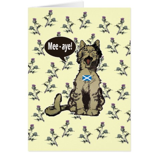 Cats for Scottish Independence Card