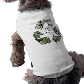 """Cats for the Environment"" Cat T-Shirt Sleeveless Dog Shirt"
