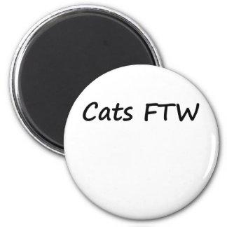 Cats FTW Fridge Magnet