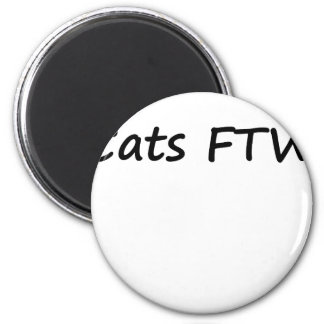 Cats FTW 6 Cm Round Magnet