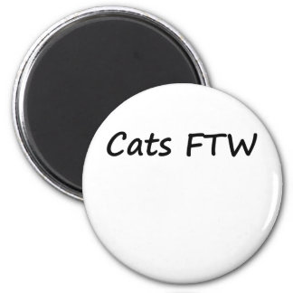 Cats FTW 6 Cm Round Magnet