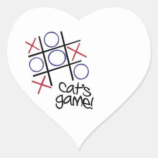 Cat's Game Heart Sticker