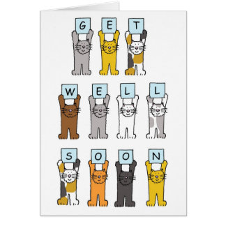 Cats get well soon. card