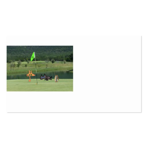 Cats Golfing On The 13 Hole Business Card