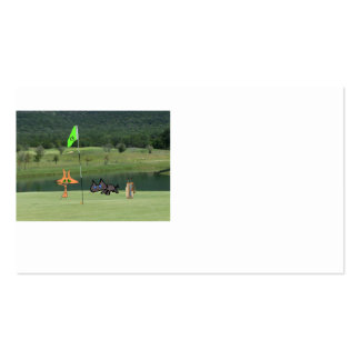 Cats Golfing On The 13 Hole Business Card Template