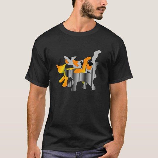 Cats Graphic Dark Shirt