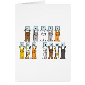 Cats Happy New Home Greeting Card