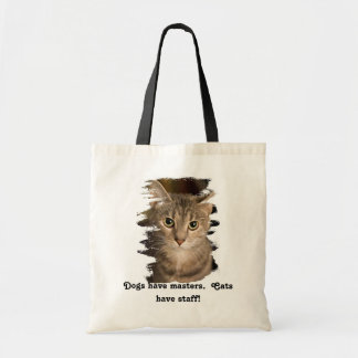 Cats have staff budget tote bag