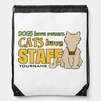 CATS HAVE STAFF custom backpack