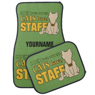 CATS HAVE STAFF custom car floor mats