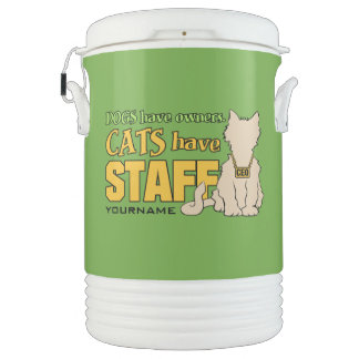 CATS HAVE STAFF custom cooler