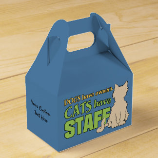 CATS HAVE STAFF custom favor box