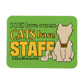 CATS HAVE STAFF custom magnet