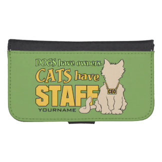 CATS HAVE STAFF custom phone wallets