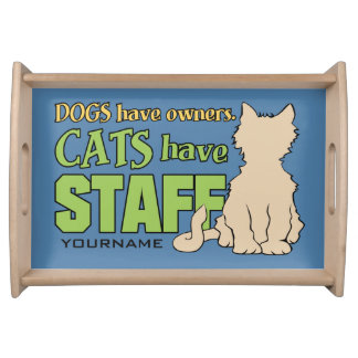 CATS HAVE STAFF custom serving trays