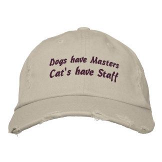 Cat's have staff - Funny Baseball Hat Embroidered Cap