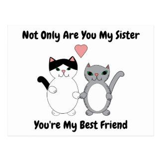 Cats Heart Sister Best Friend Personalise Postcard